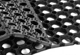 Резиновый ячеистый ковер Домино 100*50 см. 16 мм.