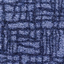 Грязезащитный ковер Валентино 60*90 см. синий