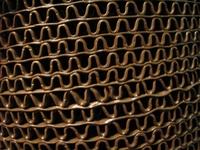 Рулонное виниловое покрытие Зиг-Заг коричневый